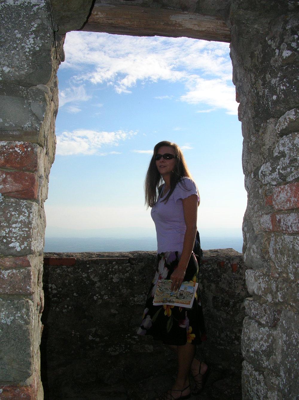 Me...in Cortona, Italy