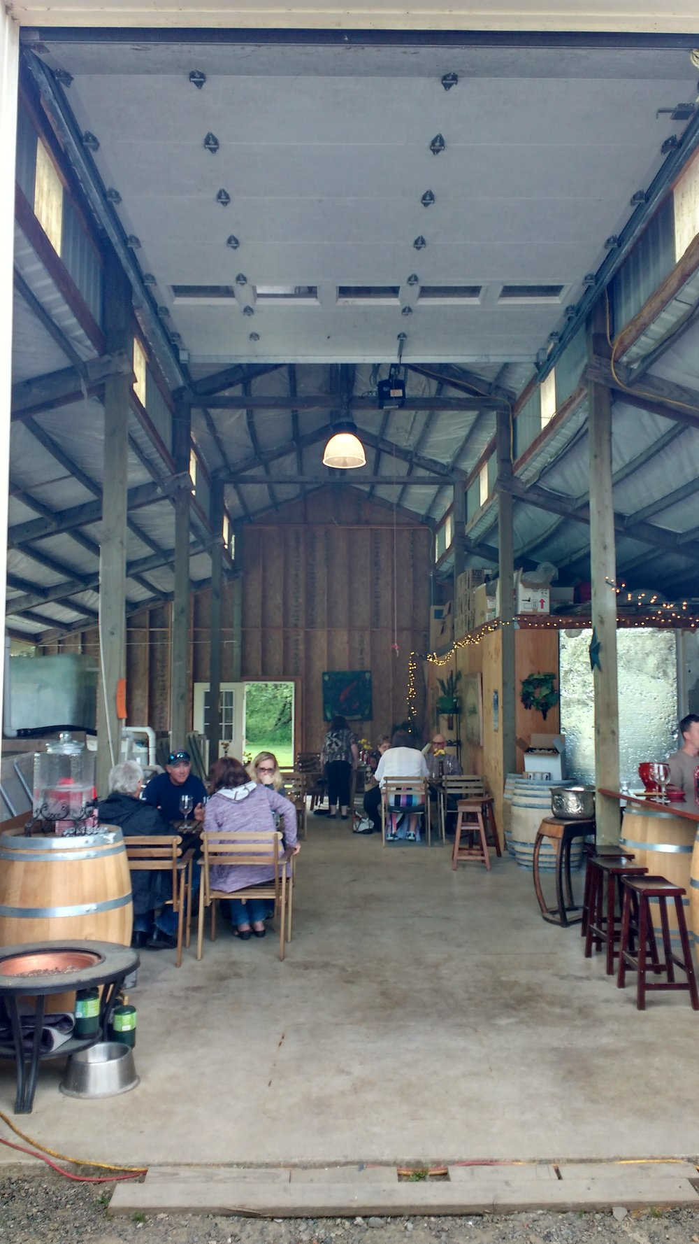 The new tasting room at Koi Pond Cellars (with more changes to come)
