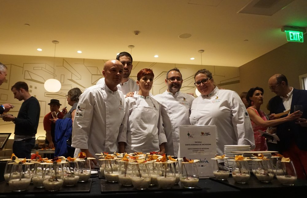 Students traveled all the way from Santo Domingo de Archidona Culinary School to present their inspired tapa on World Tapas Day in PDX. Viki Eierdam