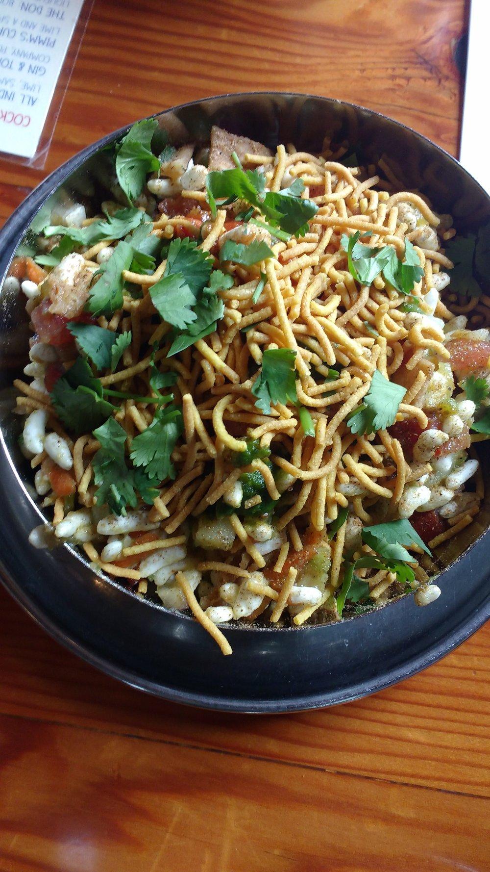 Bhel Puri, an Indian salad made with from-scratch ingredients. Viki Eierdam