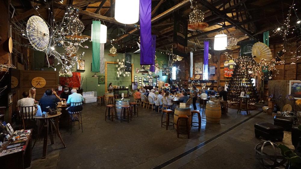 The main event at Dunham Cellars is their whimsical indoor tasting room. Viki Eierdam
