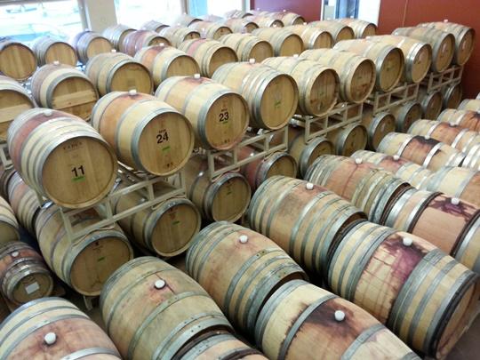 Barrel room at Burnt Bridge Cellars. Courtesy of SW Washington Winery Assn.