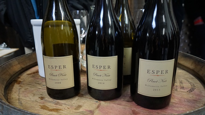 For a fruit-forward Pinot Noir the 2015 Esper Cellars is showing vibrant red fruit notes. Viki Eierdam