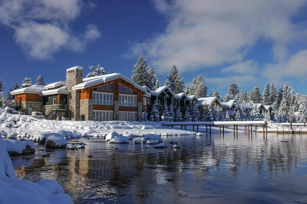A quintessential winter escape, Shore Lodge at McCall, Idaho, sits on the banks of Payette Lake at the 5,000-foot elevation. COURTESY OF SHORE LODGE