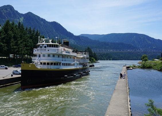 S.S. Legacy docked near Hood River, Ore. Courtesy of Viki Eierdam