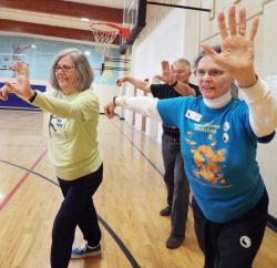 Terry Carpenter, Bruce Hall and Judy Weber enjoy the benefits of tai chi. Courtesy photo