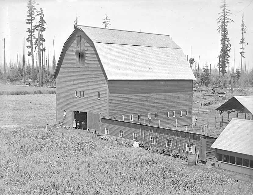 An early photos of the English Estate barn, celebrating its 115th birthday this Saturday, May 5. Courtesy photo