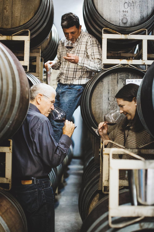 Cooper Mountain winemaker Gilles de Domingo; general manager Barbara Gross; and founder/owner Robert Gross. Photo courtesy of Cooper Mountain/Cheryl Juetten
