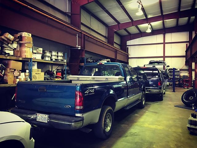 Busy Friday at the shop. #diesel #dieseltrucks #potd #perfection #TGIF #raleigh #northcarolina #autoshop