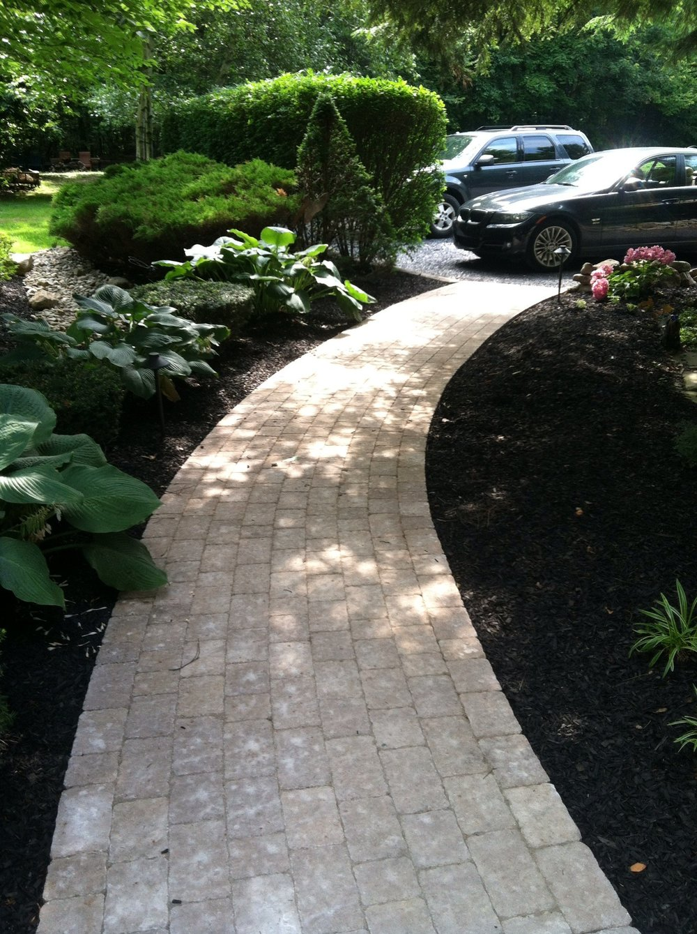 Expert landscape design with bluestone in Allentown, PA