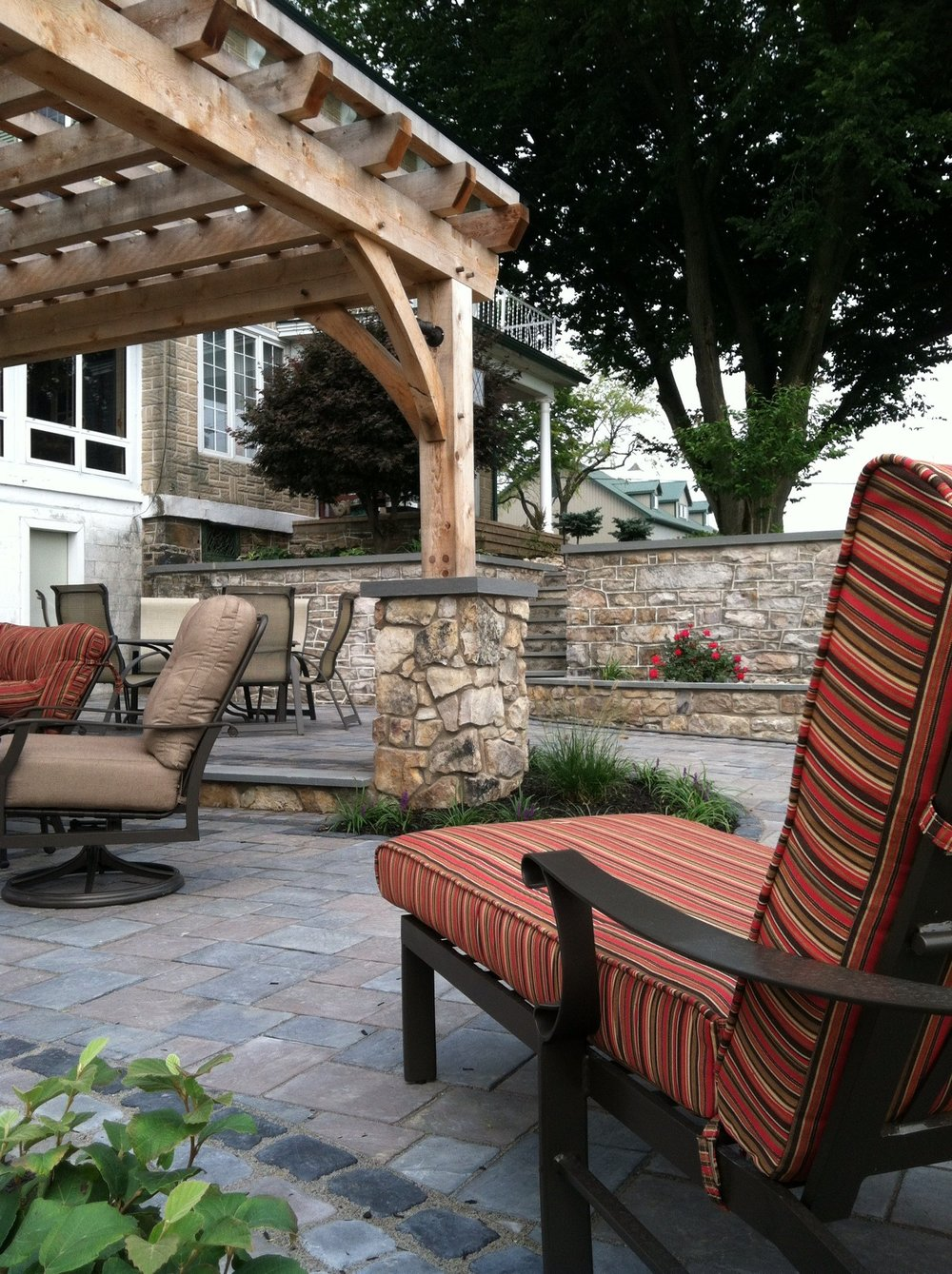 Professional landscape patio ideas in Professional landscape driveway pavers in South Whitehall, PA