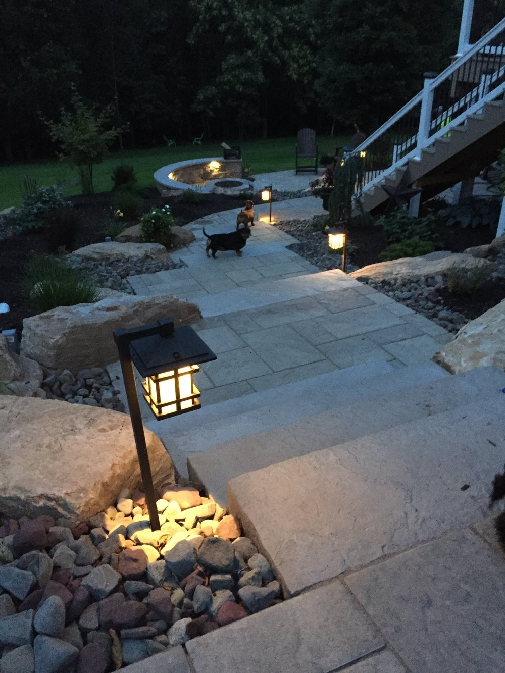 Professional landscape design with outdoor lighting in Exeter, PA