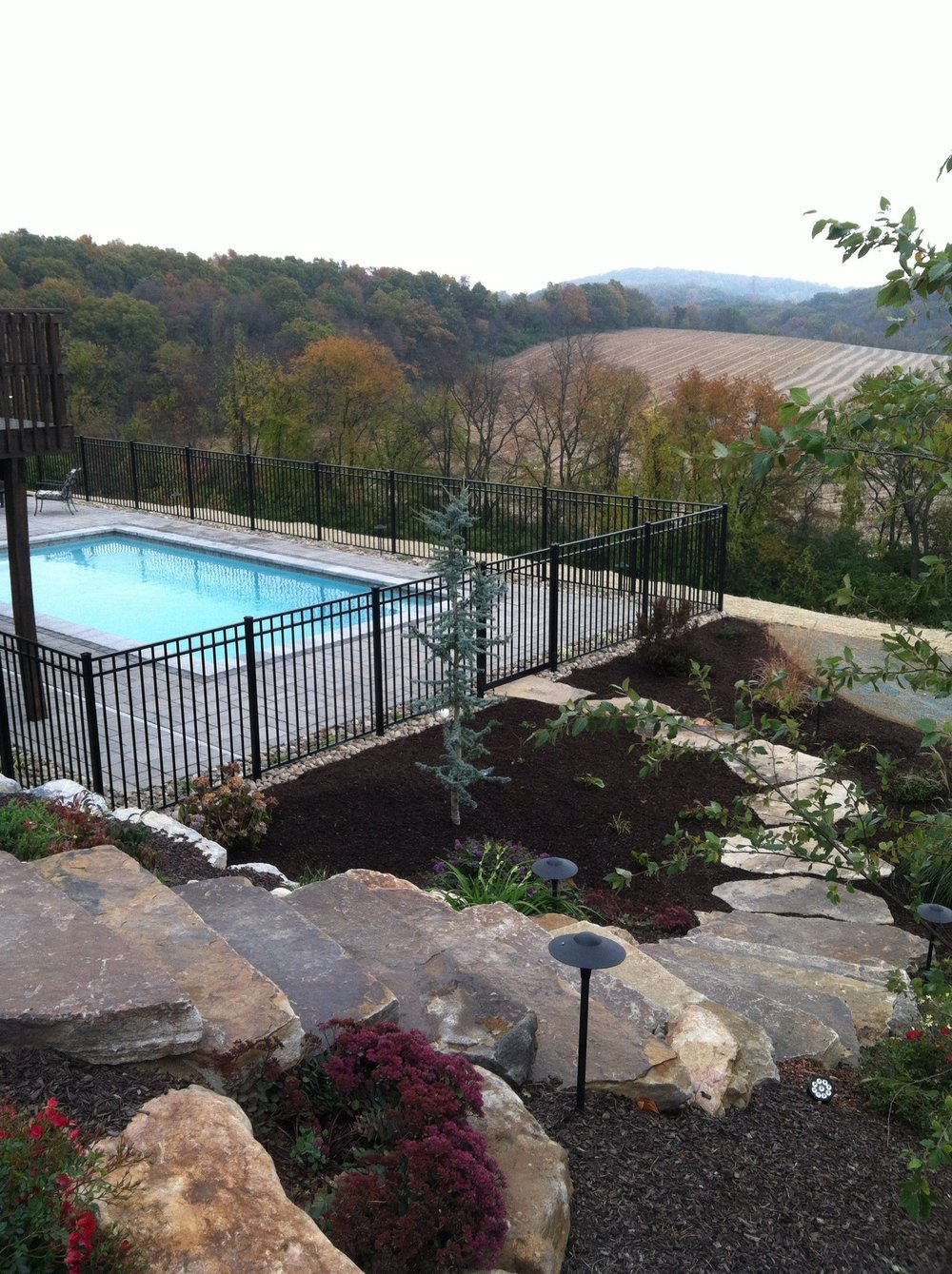 Professional landscape design with outdoor lighting in Wayne Township, PA