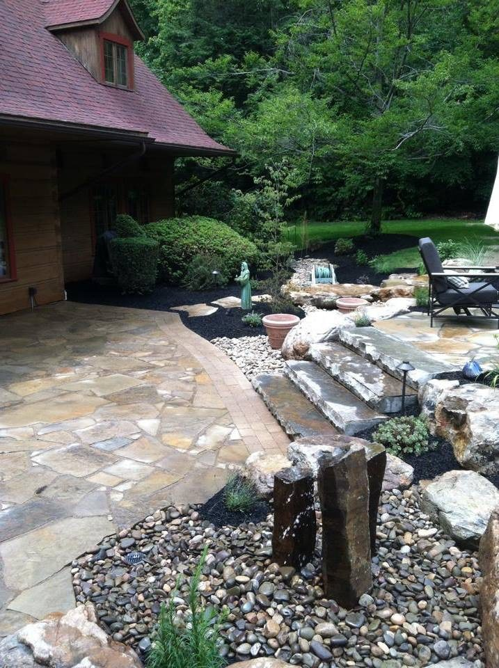 Expert landscape design with flagstone in Lehigh county, PA