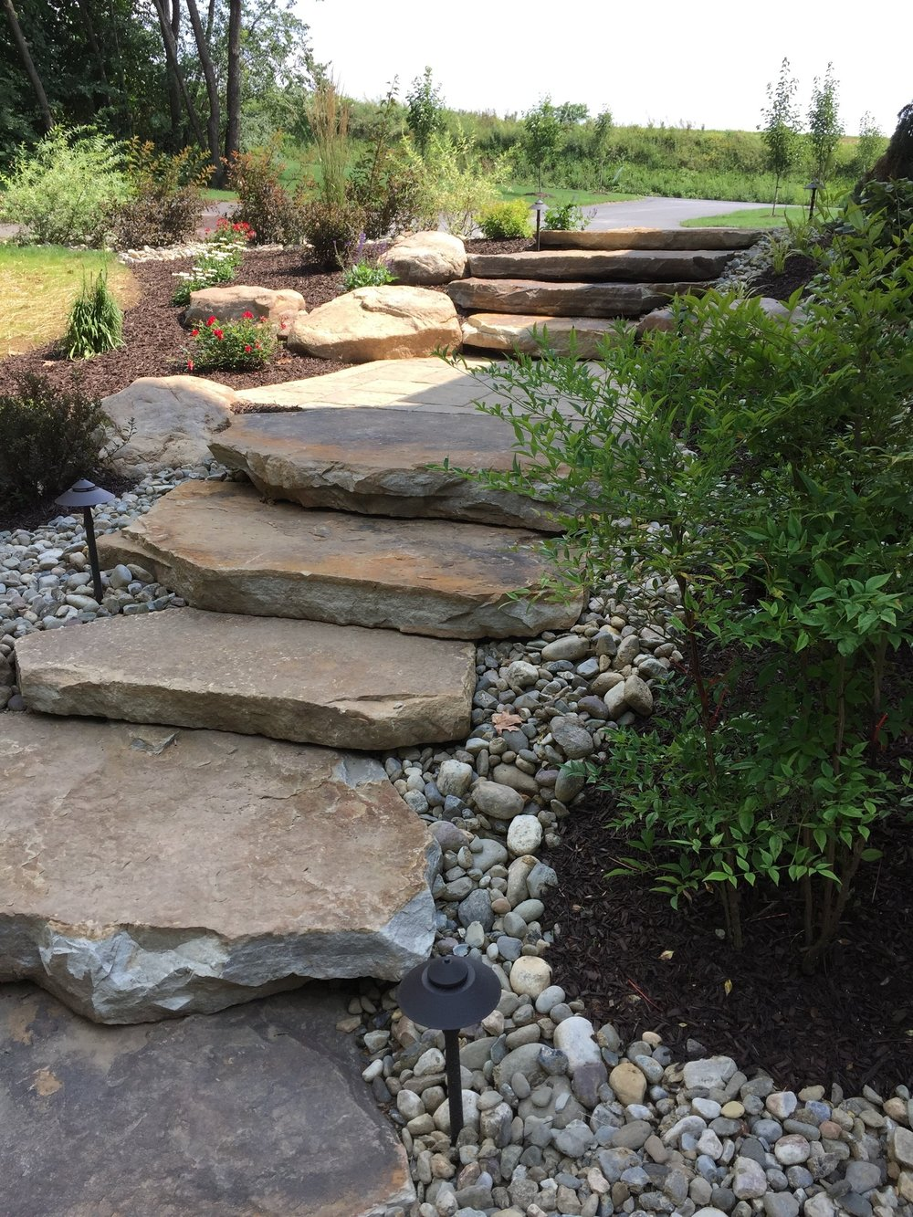 Professional landscape design with flagstone in Reading, Exeter, PA