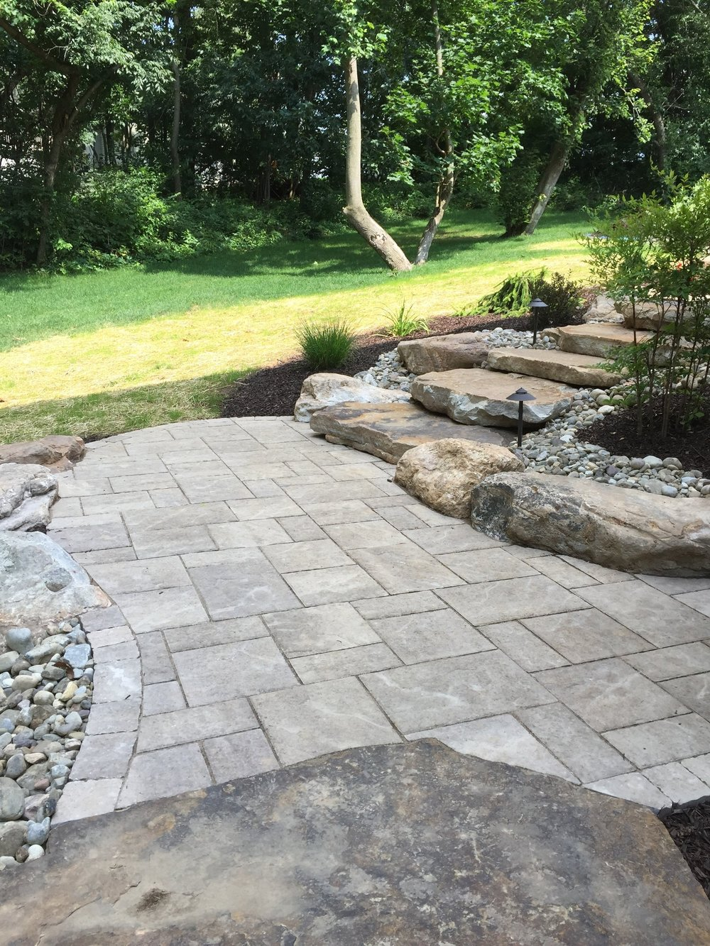 Top backyard landscape design with an outdoor kitchen by landscape contractor in Reading, Pennsylvania