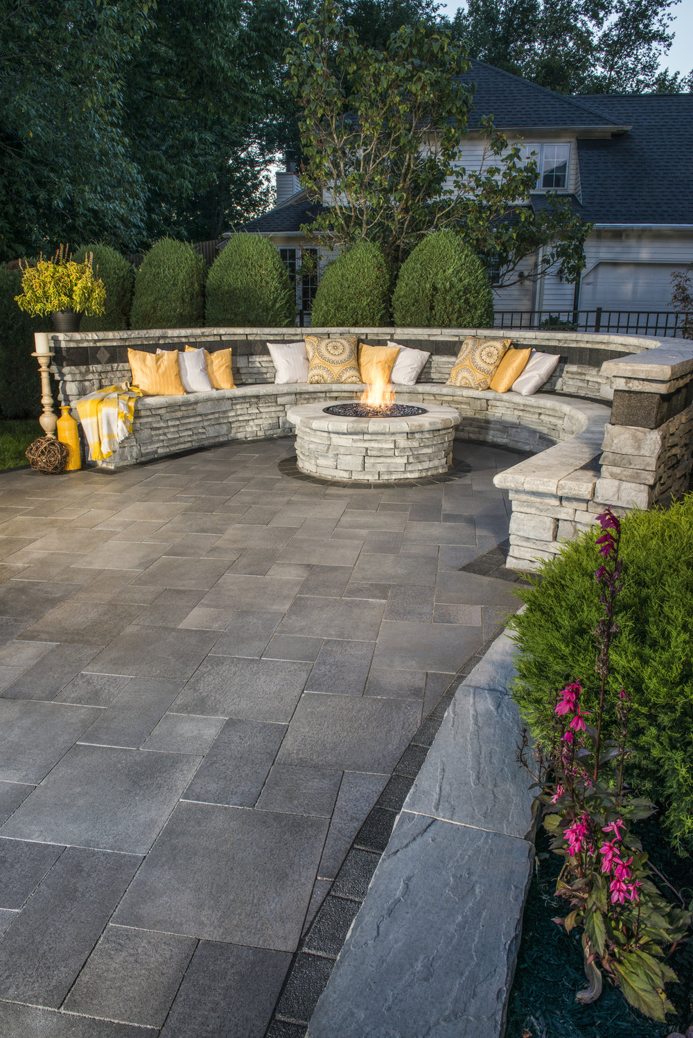 Choosing Materials for Your Fire Pit Seating Wall in Whitehall, PA