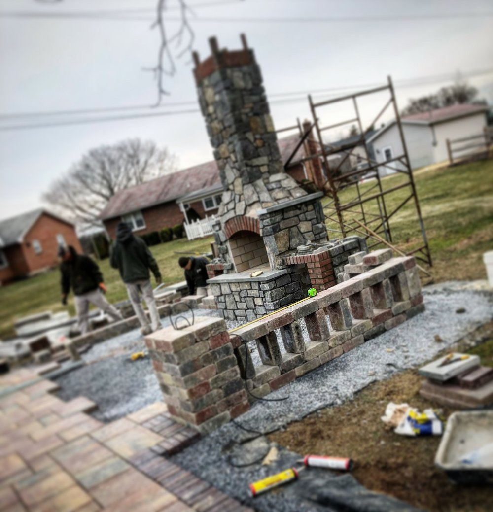 Stunning outdoor fireplace Exeter PA