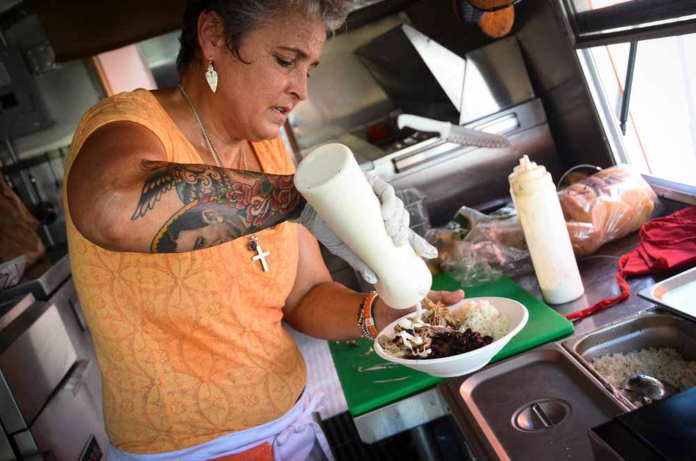 """CUBAN FUSION   Cuban Fusions Food Truck """"Jimmie"""" brings style and flair to any occasion! One taste and you will be hooked to the fabulous taste of Cuban Fusion!   LEARN MORE"""