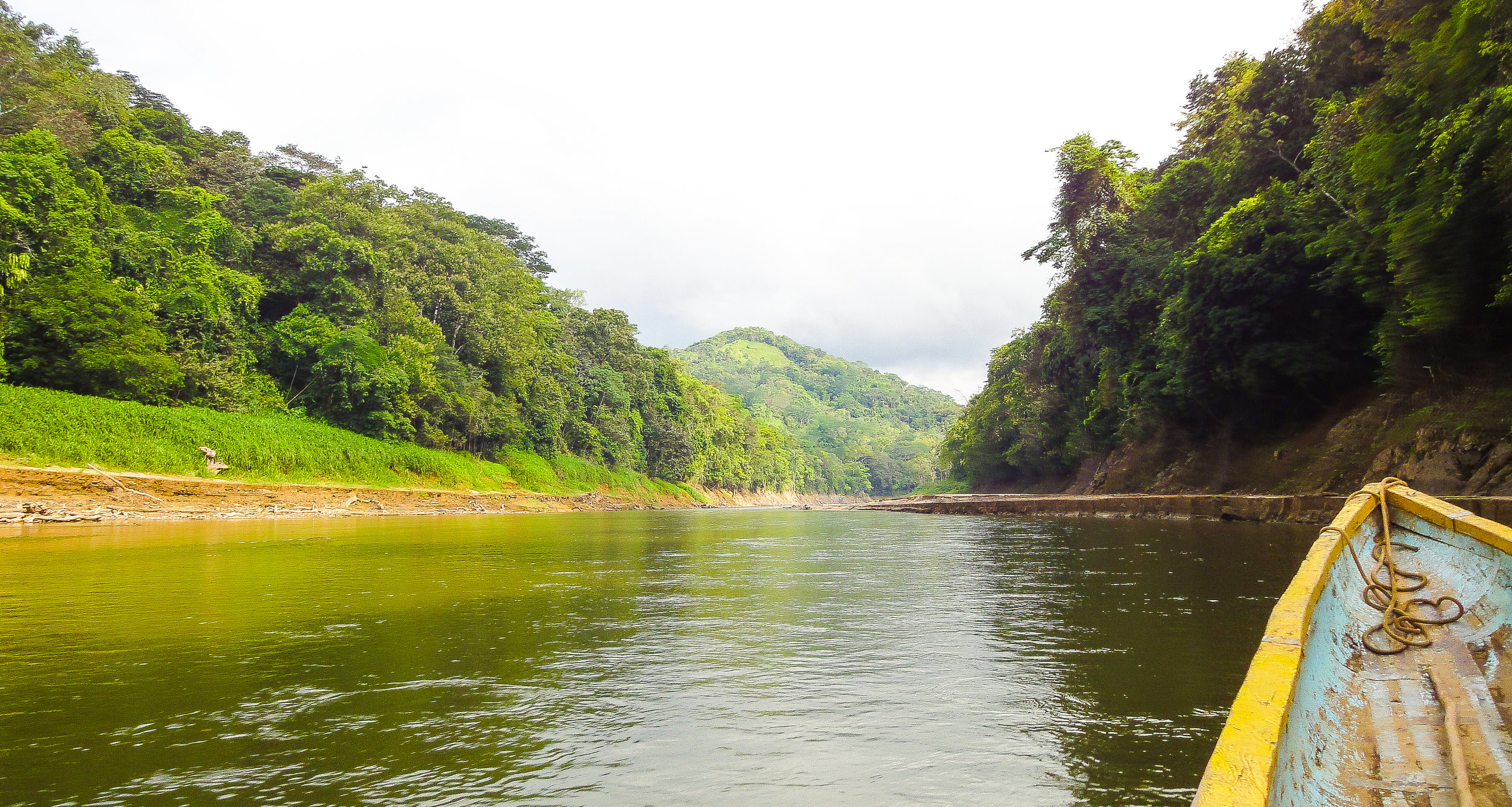 Floating along Rio Chagres in Panama