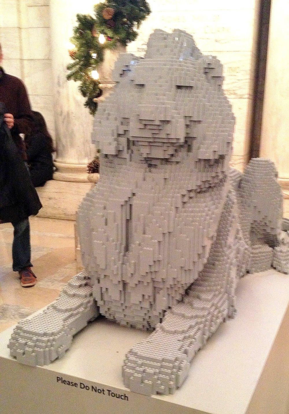 The NYPL Lion in Lego