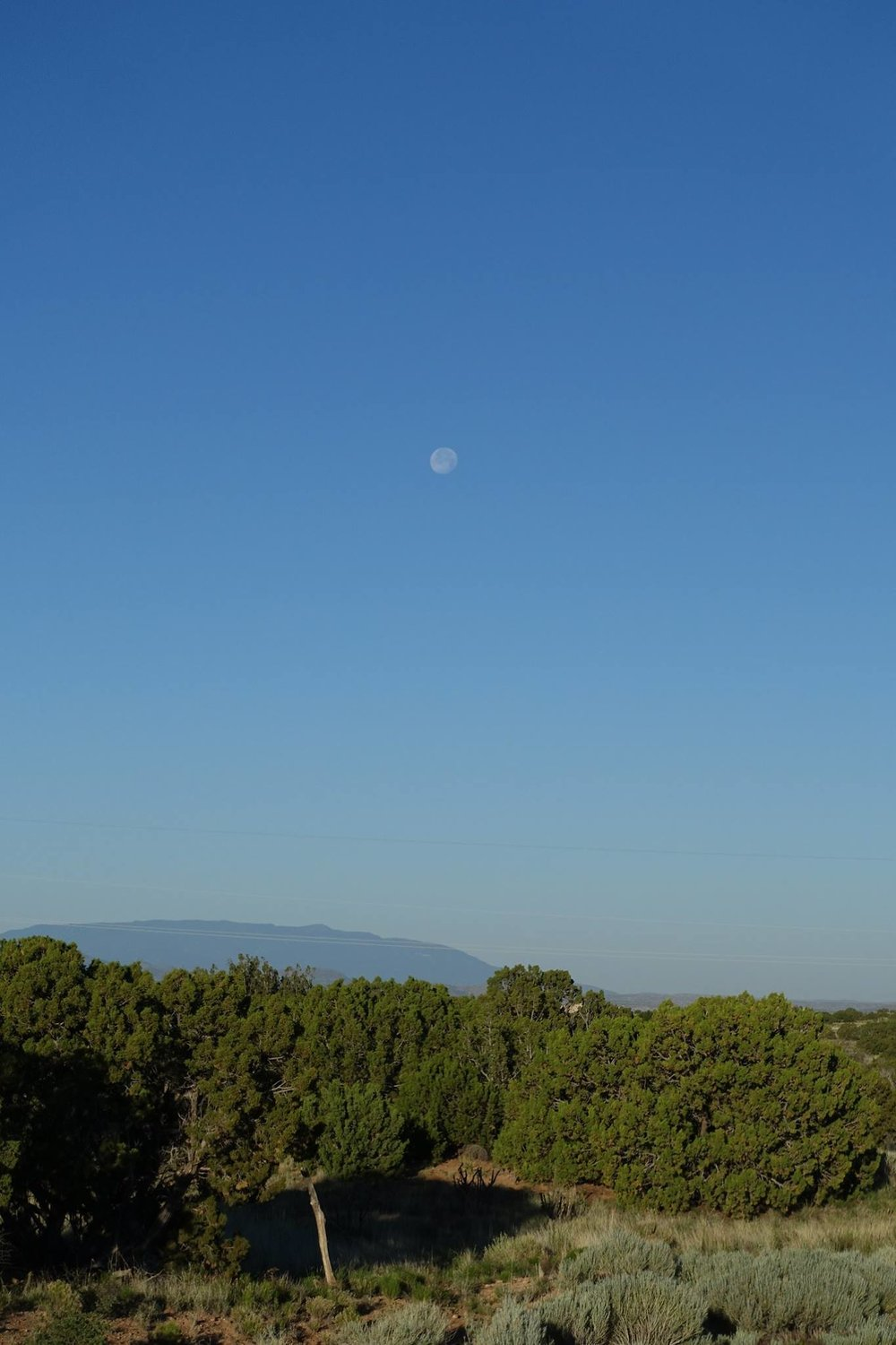 Moon Over Sandia Peak
