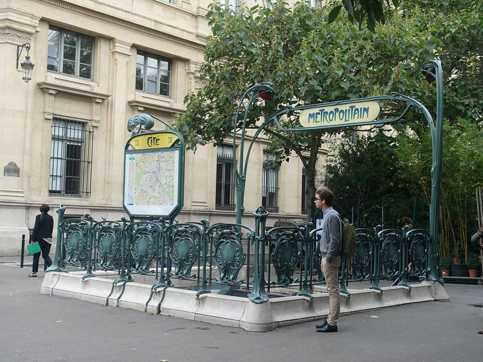 Original Preserved Design of an Entrance to the Paris Subway