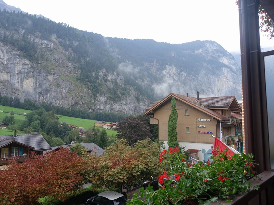 View from Hotel Oberland, Lauterbrunnen, Switzerland