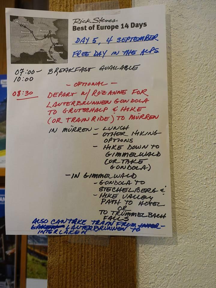 "Rick Steves ""Best of Europe 14 Days"" Day #5"