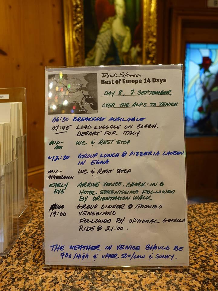 "Rick Steves ""Best of Europe 14 Days"" Day #8"