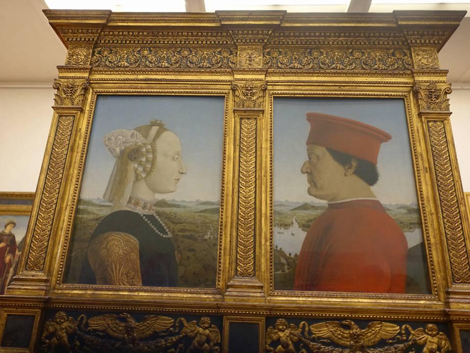 Portraits of the Duke & Duchess of Urbino by Piero della Frances