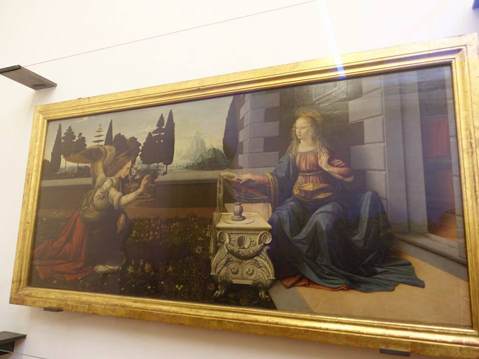 Anunciacion, Leonardo da Vinci