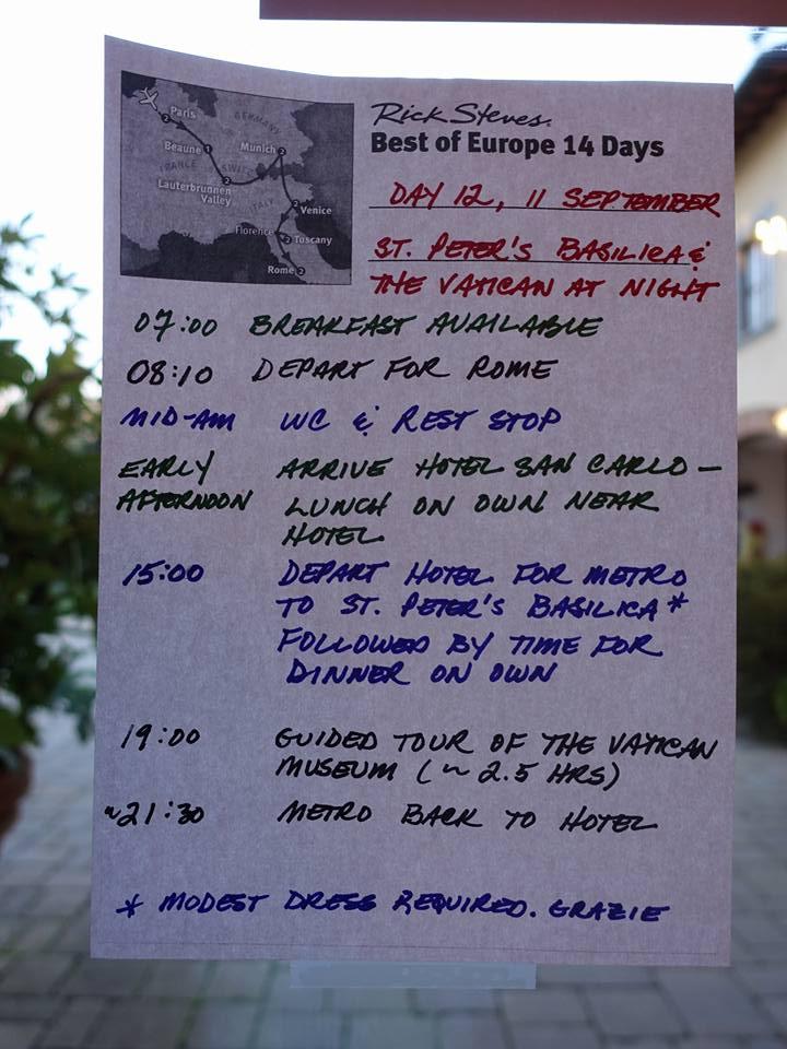 "Rick Steves ""Best of Europe 14 Days"" Day #12"