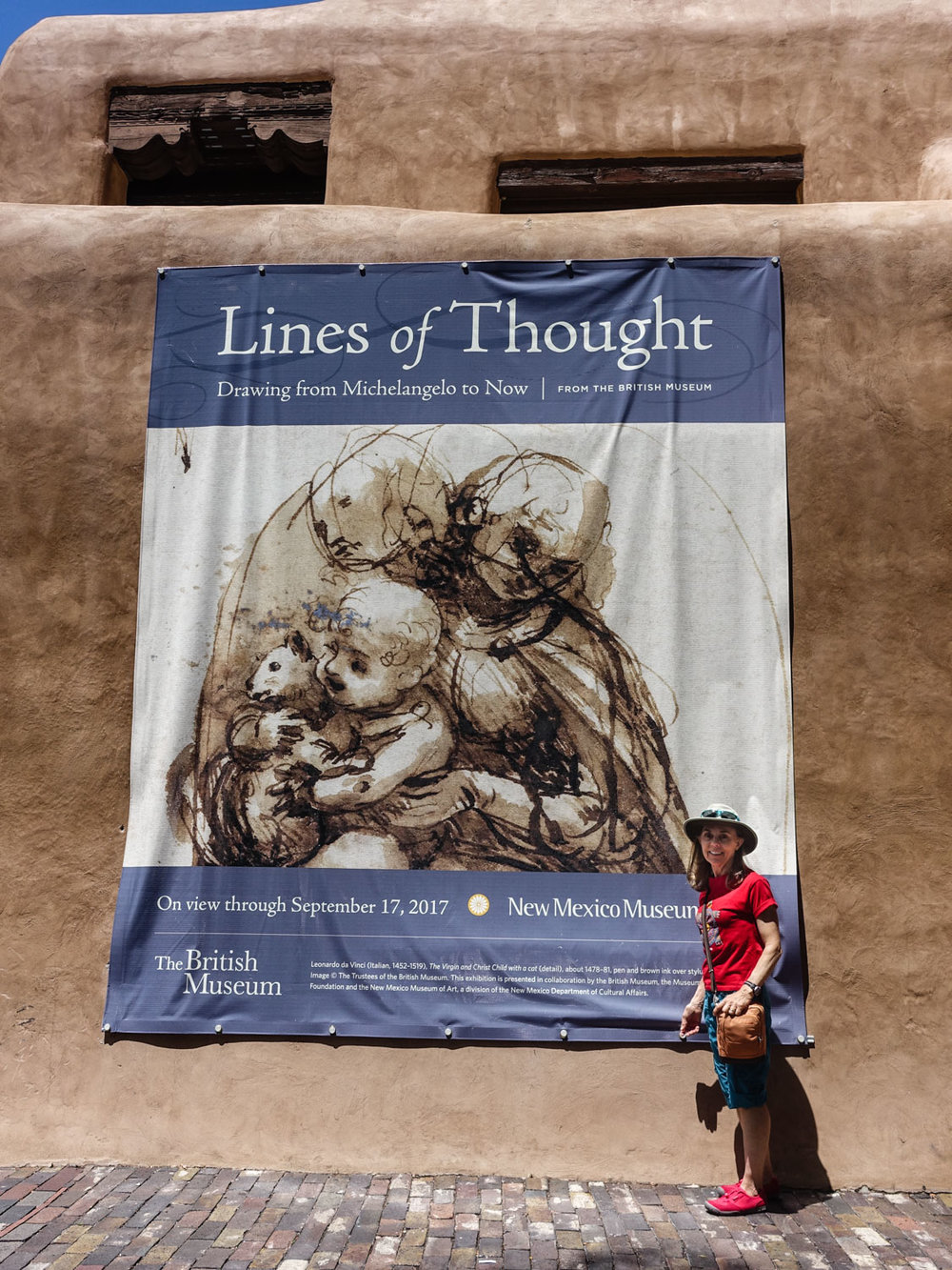Visiting the Lines of Thought Exhibition at the  New Mexico Museum of Art.