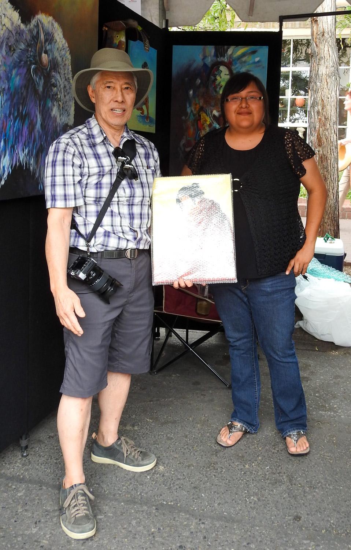 Tom with Artist Hadiibah John