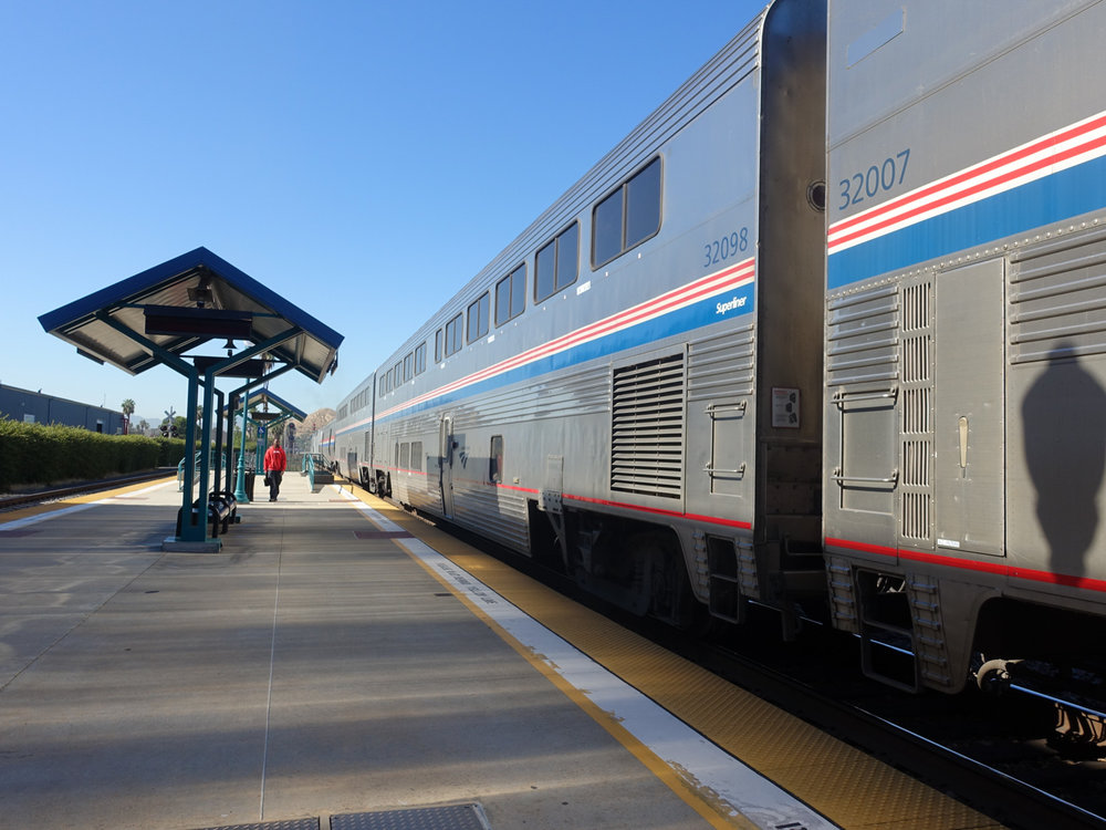 Amtrak Arrival in Riverside