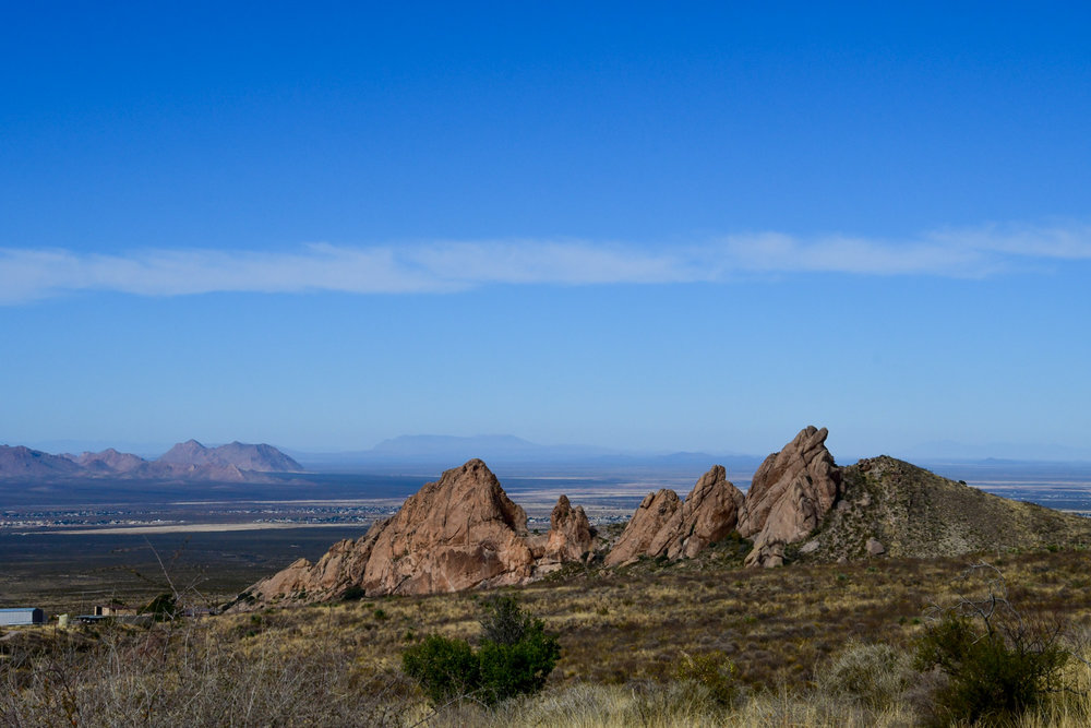 Organ Mountains Overlooking Las Cruces
