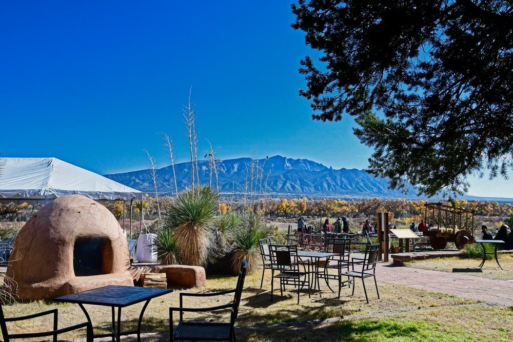Horno with Sandia Mountains