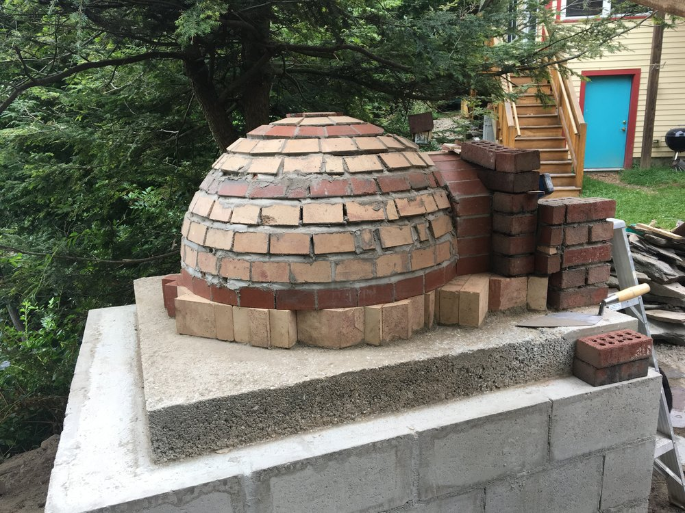 Dome Oven under construction