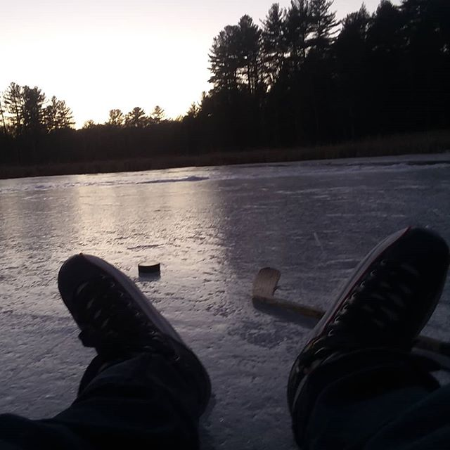 When not baking or building #fitzgeraldlake #pondhockey
