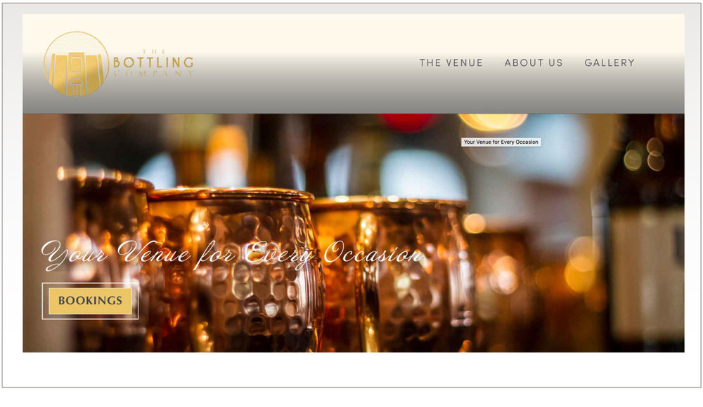 The Bottling Company is a premier event venue for weddings, parties, and gatherings in Hattiesburg, MS.  For this project, we started with beautiful images, an existing elegant logo, and the client's choice of color palette.  From there, we designed a clean, modern and beautiful website that functions as a primary source of information and booking requests for this 101 year old, newly-renovated building.