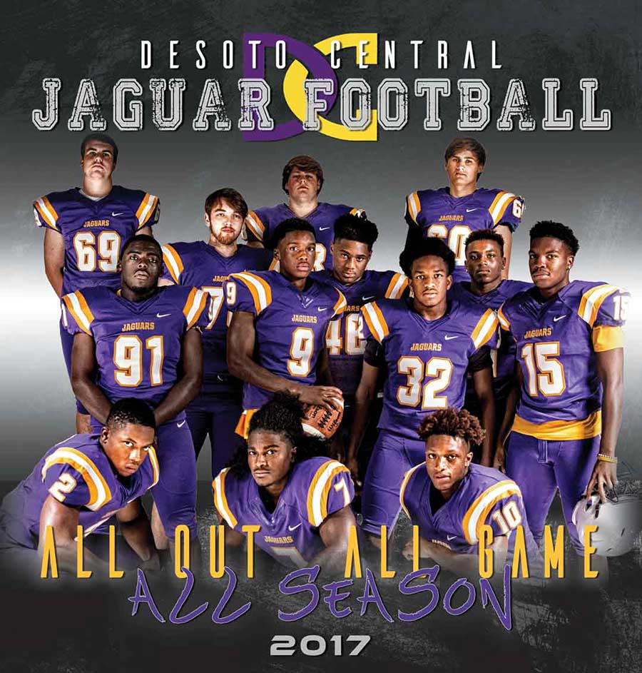 GRAPHIC DESIGN     |      DESOTO CENTRAL HIGH SCHOOL FOOTBALL SCHEDULE POSTER