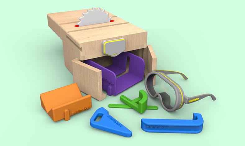 All parts of the toy can be stored into the enclosure after use.