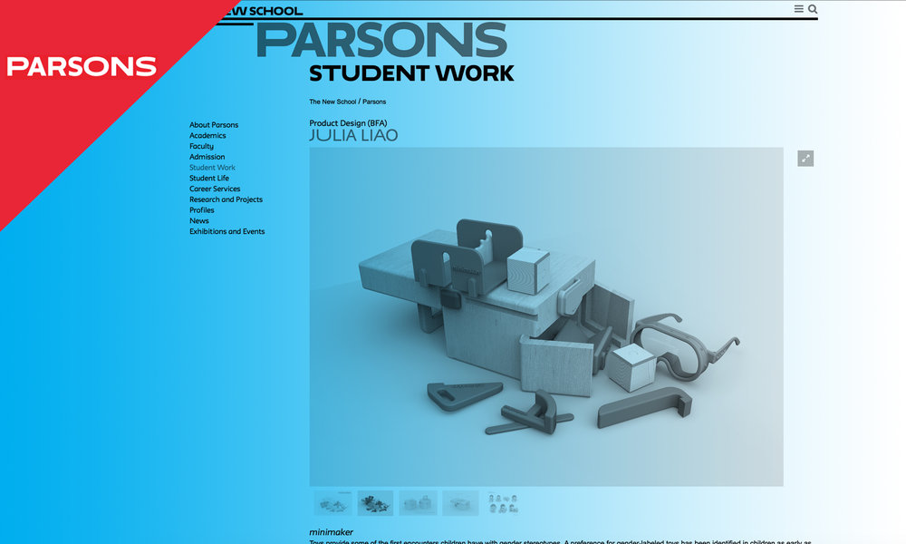 Parsons Notable Thesis Work - May 2016