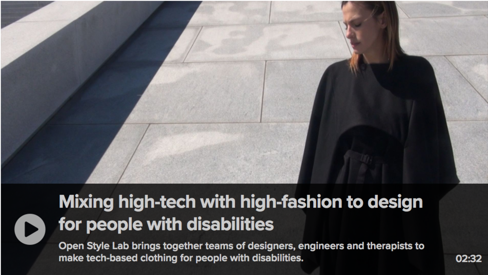 CNBC - Mixing high-tech with high-fashion to design for people with disabilities - March 2018