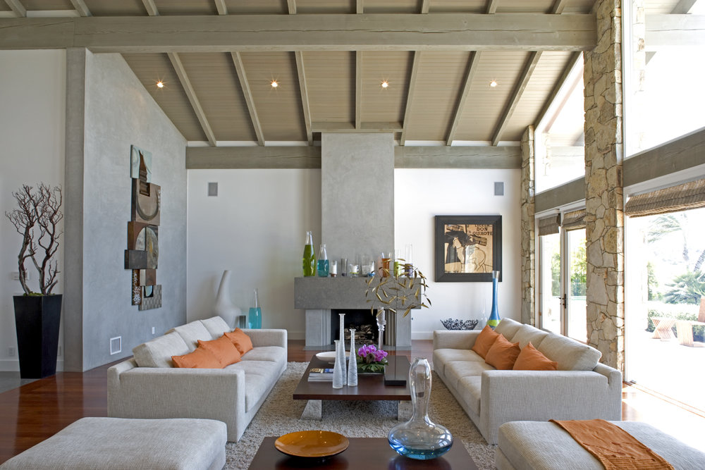 Open plan, natural light living space - Rocky Point Road, Palos Verdes