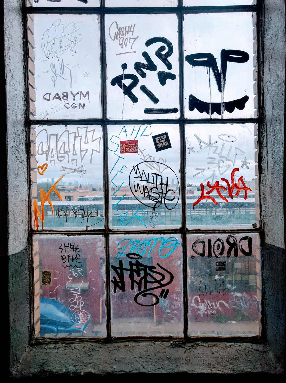 A window in the building of my friend's studio in Bushwick