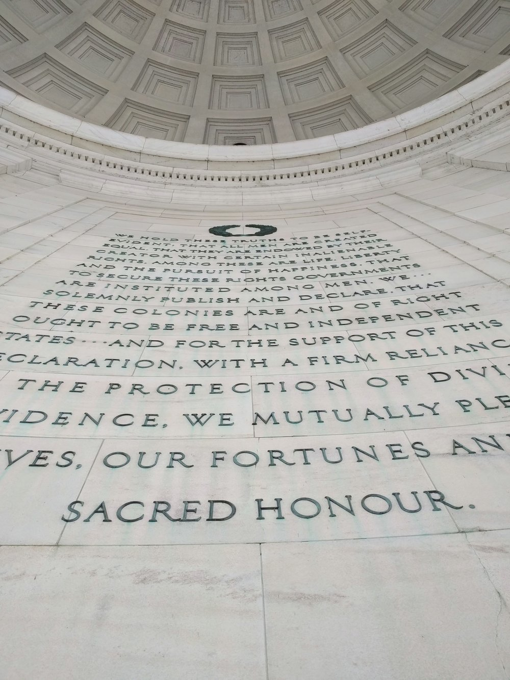 Gorgeous lettering at the Jefferson memorial