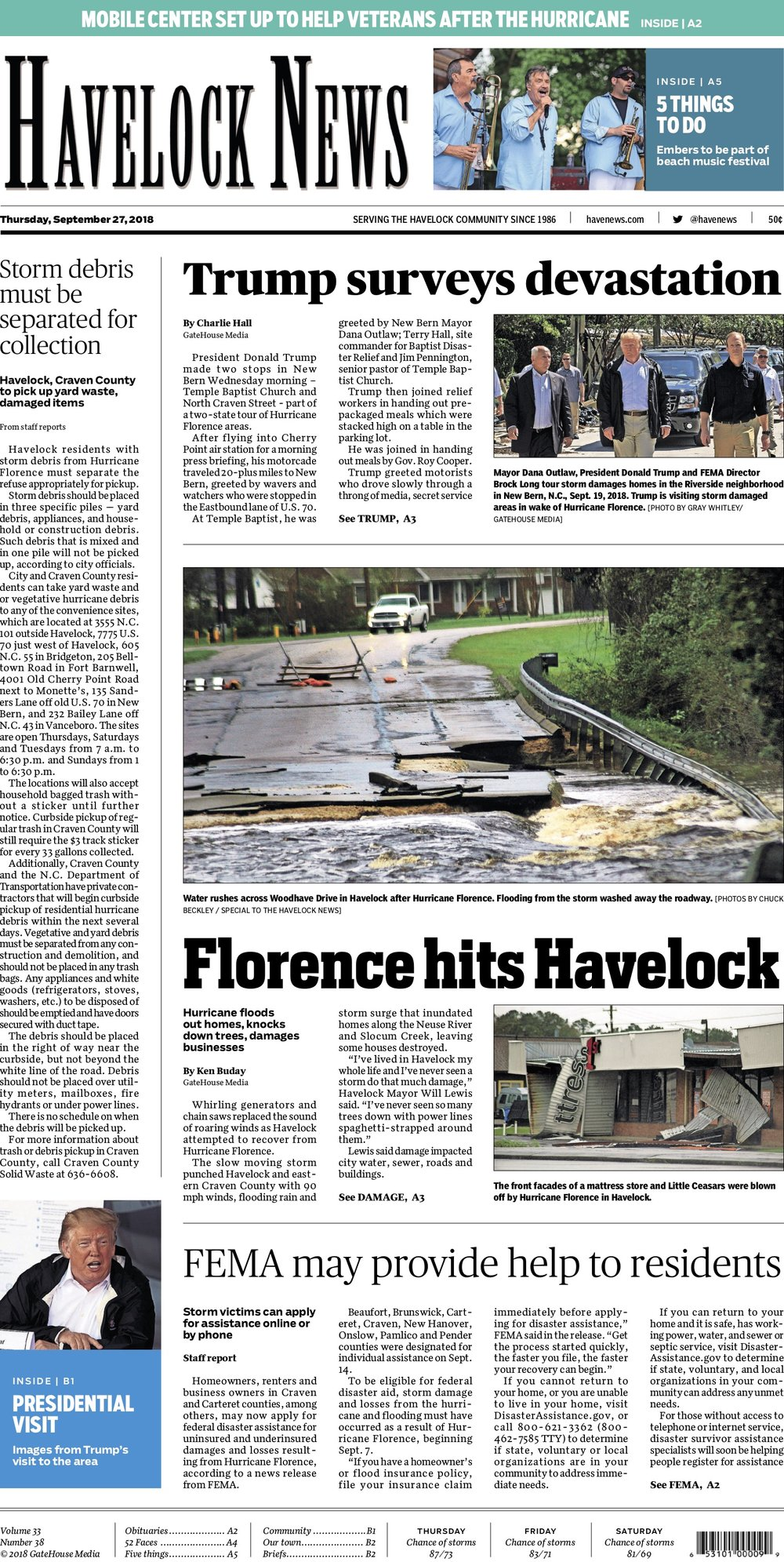 A1 of Havelock News (Havelock, NC) 9/27/2018