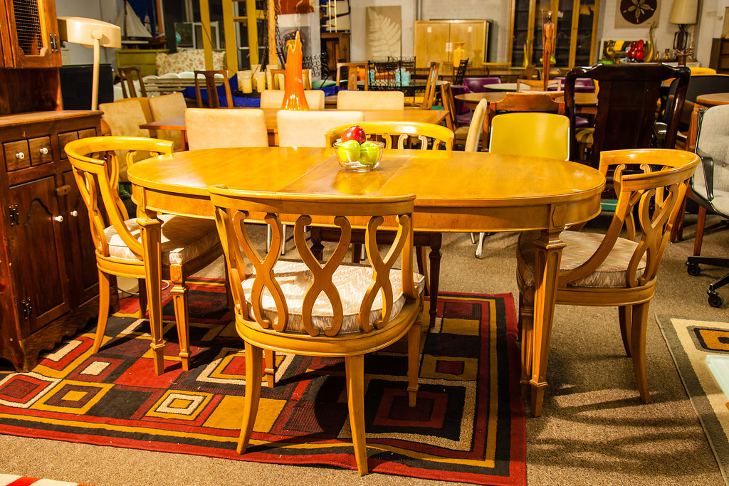 Wonderful 1960s Dining Room Table With Two Leaves